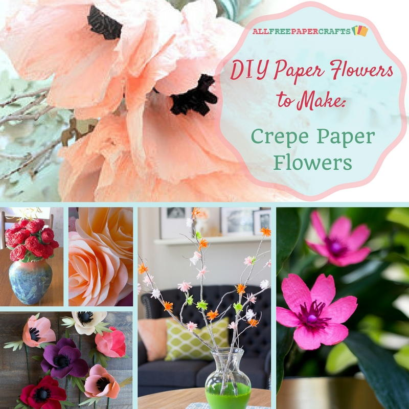card craft for valentine day - DIY Paper Flowers to Make 10 Crepe Paper Flowers