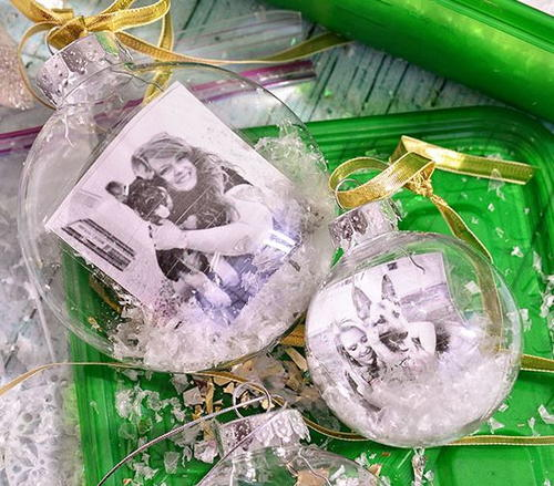Snowglobe Photo Ornament DIY Tutorial