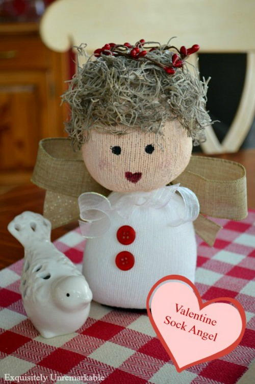 Valentine Sock Angel