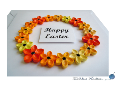Easter Card with Flower Wreath