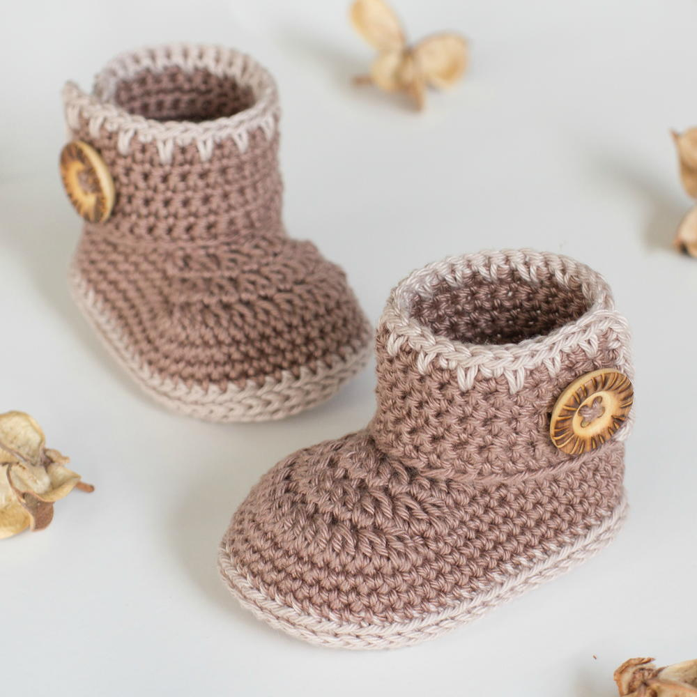 Crochet Baby Ankle Booties Free Pattern : Cocoa Baby Ankle Booties AllFreeCrochet.com