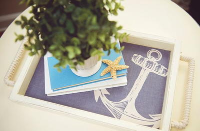 Coastal Chic DIY Serving Tray