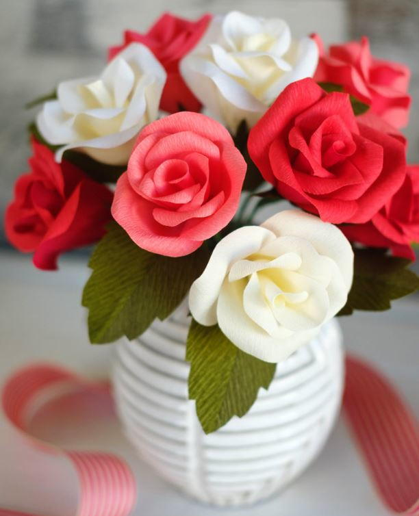 crepe paper roses Find great deals on ebay for crepe paper flowers in collectible mexican folk art shop with confidence.