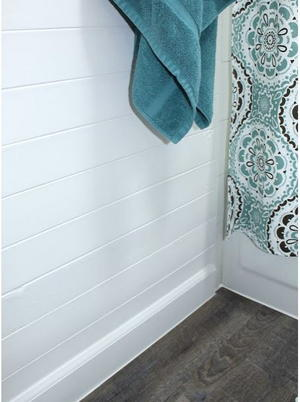Affordable Bathroom Homemade Shiplap