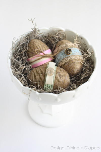 Dollar Store DIY Rustic Easter Eggs