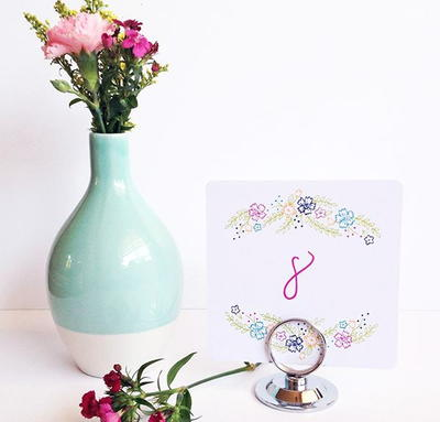 Ultra Fast Floral Printable Table Numbers
