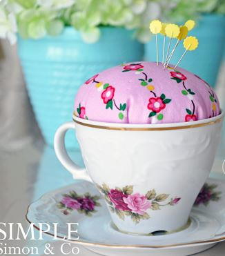 Ladylike Teacup DIY Pincushion