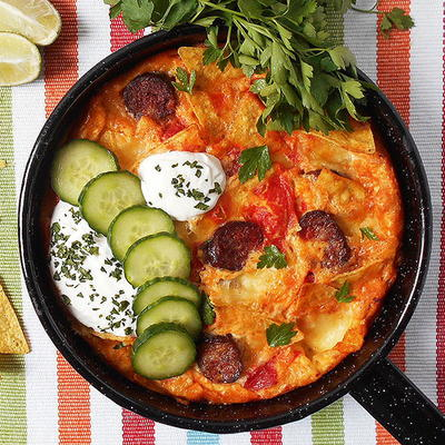 Easy Chilaquilles Frittata Bake
