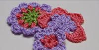 How to Crochet a Flower 3 Ways