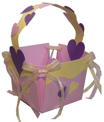 Lilac and Lemon Cardstock Easter Basket