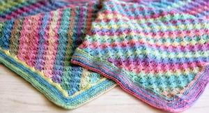 Quick Corner To Corner Crochet Baby Blanket