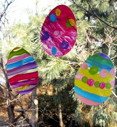 Easter Egg Window Clings