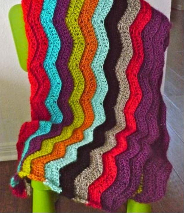 Simple Rainbow Chevron Crochet Pattern ...