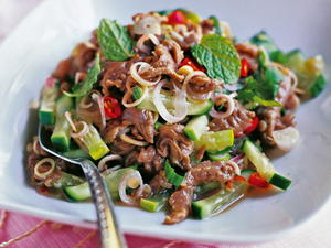 Marinated Beef Salad with Lemongrass