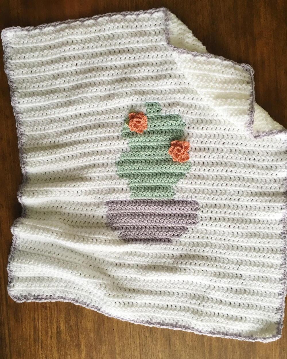 Baby Bamboo Blanket Pattern: Summer Cactus Crochet Blanket