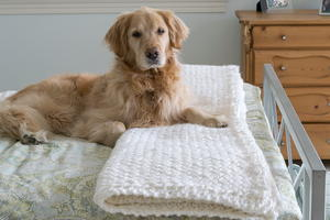 Diagonal Basket Weave Knit Blanket