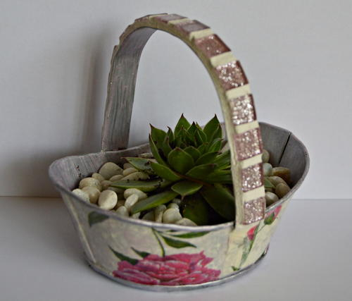 Mini Tin Basket Wedding Favor