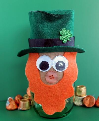 Diy Saint Patricks Day Mason Jar Leprechaun Diyideacenter Com