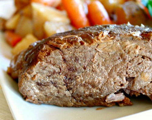Slow Cooker Apple Cider Rump Roast