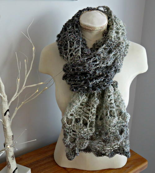 Opal Shell 2 in 1 Crochet Wrap and Scarf