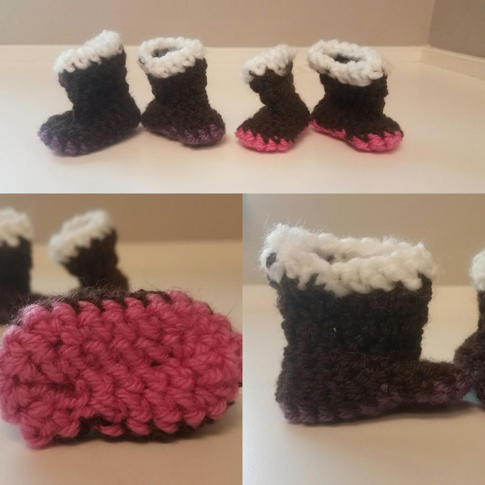 Preemie Fashion Booties | AllFreeCrochet.com