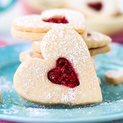 Heart-Shaped Jammie Dodgers