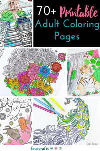 5 Free Printable Coloring Books PDF Downloads