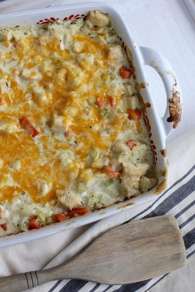 Cream Cheese Country Chicken Casserole   FaveSouthernRecipes.com