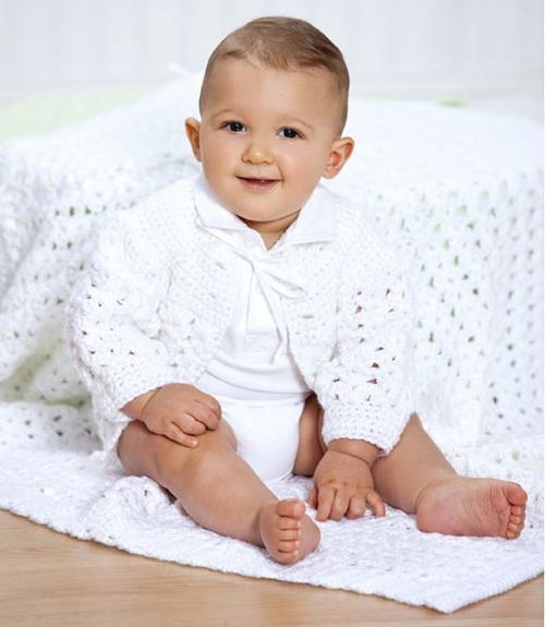 Heavenly Shell Stitch Christening Blanket