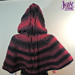 Hooded Cabled Cape