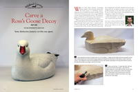 Carve a Ross's Goose Decoy, Part One