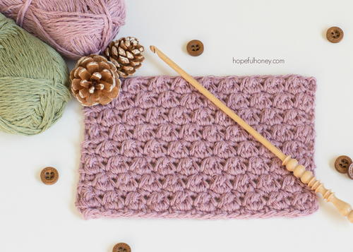 How to Crochet The Uneven Berry Stitch