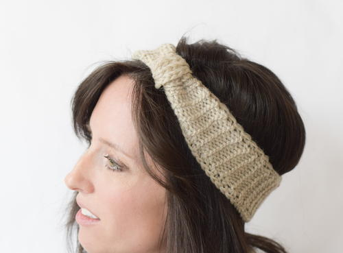 Faux Purl Crocheted Headband