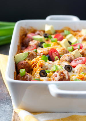 Dump-and-Bake Sloppy Joe Casserole