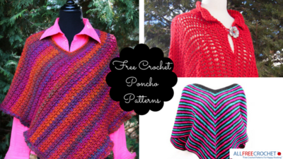 16 Free Crochet Poncho Patterns Allfreecrochetcom
