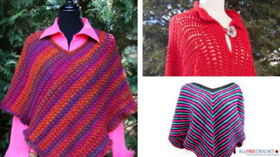 16 Free Crochet Poncho Patterns