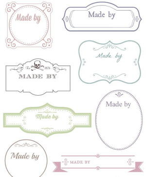 graphic about Free Printable Crafts named No cost Printable Victorian Labels for Selfmade Crafts