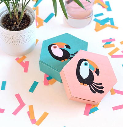 Tropical Toucan Printable Treat Boxes