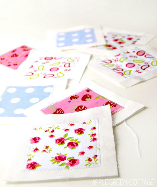 Fabric Memory Game Tutorial and Template