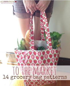 To the Market: 14 Grocery Bag Pattern Ideas