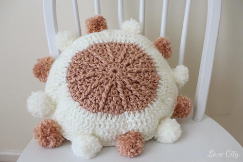 Relax and Stay Awhile Crochet Pillow