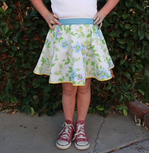 Spring Skirt for Girls Tutorial