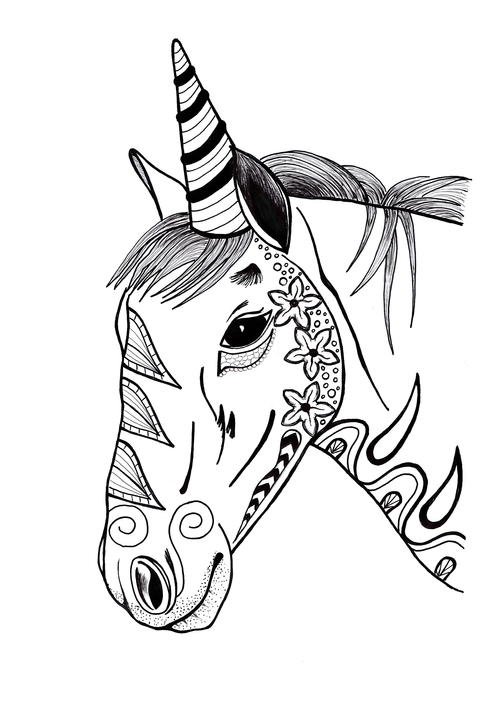 Colorful Unicorn Adult Coloring Page | FaveCrafts.com