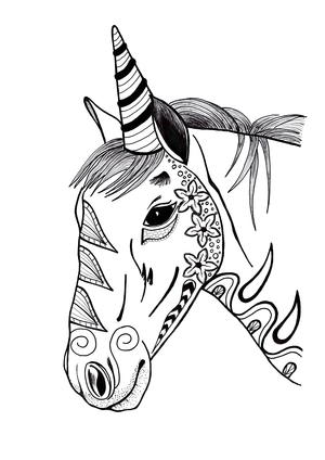 72 Coloring Pages For Adults Unicorns Images & Pictures In HD