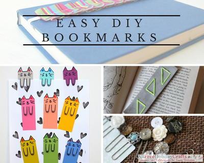 17 Easy Diy Bookmarks To Make Allfreeholidaycrafts Com