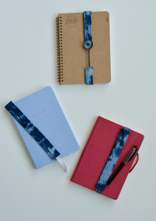 Shibori Inspired Denim Bookmarks
