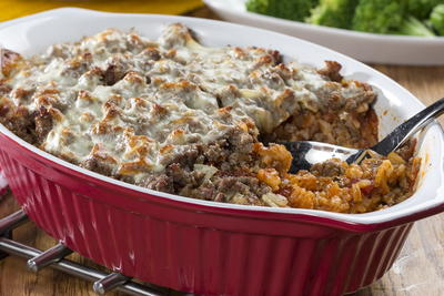 Beefed-Up Rice Casserole