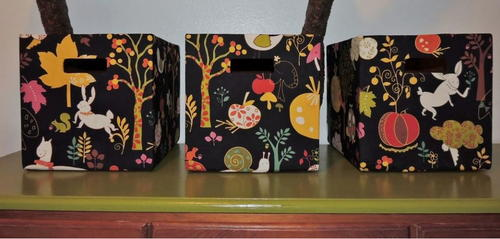 Easiest DIY Fabric Boxes