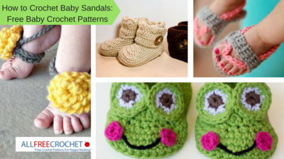 31ecbdb91 How to Crochet Baby Sandals  24 Free Baby Crochet Patterns