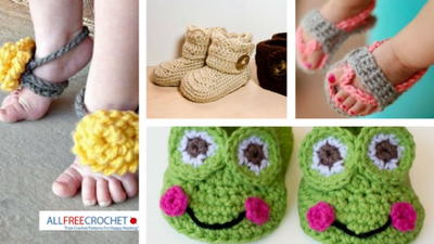 24 Free Baby Sandal Crochet Patterns